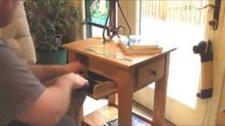 Handmade End Table / Nightstand with Secret Hidden Compartment for Handgun, Pistol, Revolver