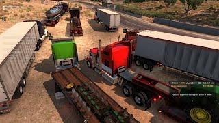 Multiplayer American Truck Simulator | Convoy de San Diego a Eureka | Kenworth W900