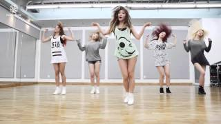 HELLO VENUS - Wiggle Wiggle - mirrored dance practice video - 헬로비너스 위글위글