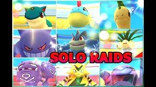 Pokémon GO 14 SOLO RAID BOSSES LEVEL 3-1 Machamp Gengar Exeggutor Muk & Gen 2 Starters