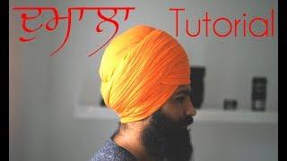 How To Tie Dumala ( ਦੁਮਾਲਾ ) Tutorial - PunjabiBeardos
