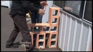 Cinder block Garden Bench