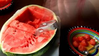 Review Watermelon Knife Cutter Slicer Corer and Melon Baller Pro Series by Cozy Kitchen