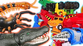 A big crocodile appeared! I'll show you the strength of Hello Carbot Hyperbuildian - DuDuPopTOY