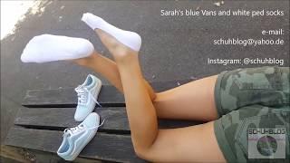 Sarah: Blue Vans and white ped socks shoeplay