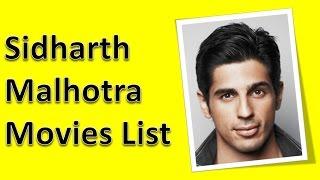 Sidharth Malhotra Movies List