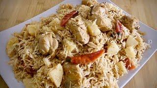 Dum Chicken Pulao, Chicken Palaw - One Pot Dish Recipe