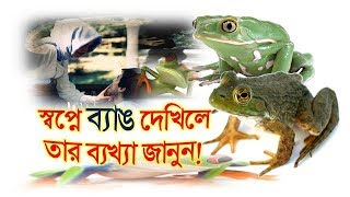 স্বপ্নে ব্যাঙ দেখিলে তার ব্যখ্যা জানুন Dream Explaination about Frog Bengg Shopner Tabir