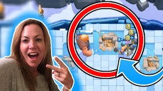 MOM PLAYS CLASH ROYALE!! GETS A THREE CROWN!! (FACE CAM)
