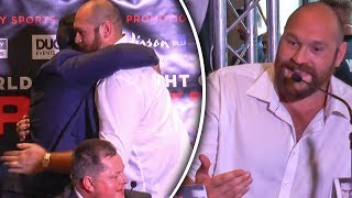 TYSON FURY: Why Don't You TRASH TALK Joseph Parker? | Both Boxers Hug It Out!