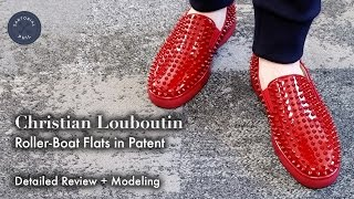 Christian Louboutin Roller-Boat/Rollerboat Flat in Patent - Detailed Review + Modeling