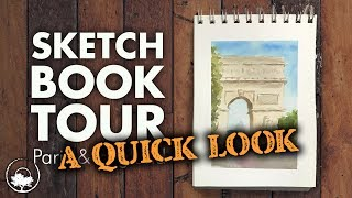 Sketchbook Tour: Paris & England Watercolors Plein Air - Quick Edition