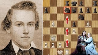 Paul Morphy crushes Two opponents while watching the Opera!