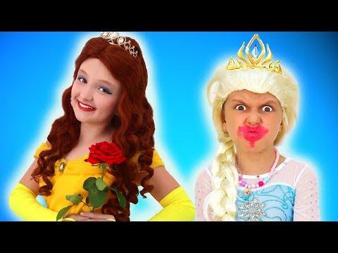 Princess Dress Up & Makeup Transformation Contest Between Elsa and Malena Super Elsa