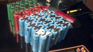 DIY: 48v 24ah lithium ion 18650 e-bike battery pack
