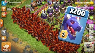 200 Dragon Attack on bass   Clash Of Clan   Mod COC