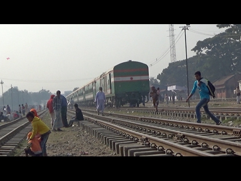 Sirajgang Express train left Tongi railway Station towards Dhaka kamlapur Railway Station