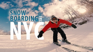 SNOWBOARDING IN NYC!