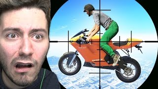 SNİPER VS UÇAN MOTORLAR (GTA 5 Online Komik Anlar)