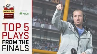Madden 17 Championship - Top 5 Plays From The Live Finals!