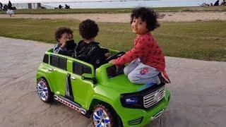🔥آسر راكب على كبوت السيارة وسامر يسوق بالريموت🔥