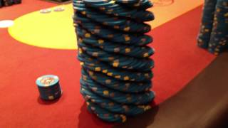 My chip stack at the Bellagio 4/8 Game