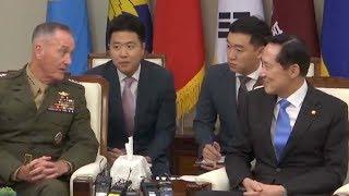 Top US general meets South Korean defense minister in Seoul