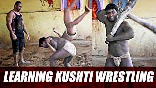 Learning Few Moves of Kushti Wrestling- Traditional Indian Wrestling in Banaras