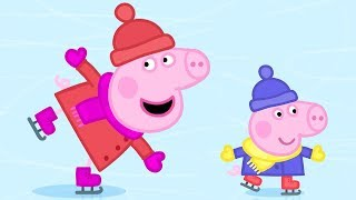 Peppa Pig Episodes in 4K   Ice Skating with Peppa!   12 DAYS OF PEPPA