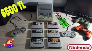 6500₺ Değerinde ki Süper Nintendo (SNES -1990) İnceliyoruz + 6 Oyun