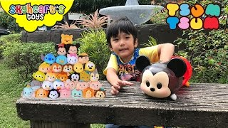 Toddler hunting for TSUM TSUM toys - Disney, Mickey Mouse, Baymax, Frozen Elsa