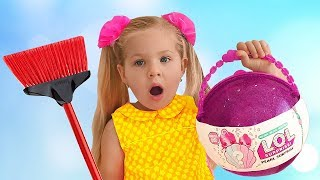Diana found LOL Pearl Surprise, Pretend Play toy Videos for kids