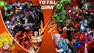 JUSTICE LEAGUE vs AVENGERS! TOTAL WAR! (DC vs Marvel) Cartoon Fight Club Episode 130 REACTION!!!