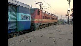 13008 Udyan Abha Tufan Express Passing Khanyan Railway Station