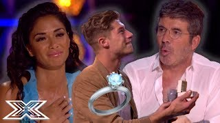 SURPRISE ROMANTIC and FUNNY Proposals on The X Factor | X Factor Global