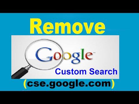 How to Remove CSE.Google.Com Google Custom Search Engine (CSE) 2016