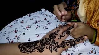 কেয়া মনি মেহেদি ডিজাইন।Keya moni Mehedi design.