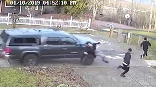 Video Shows Truck INTENTIONALLY SLAM Into People On Sidewalk Then Drive Off!
