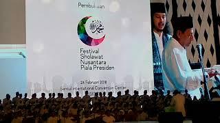 Padang Bulan Sharla & Habib Lutfi bin yahya di acara Festival Sholawat Nusantara Piala Presiden