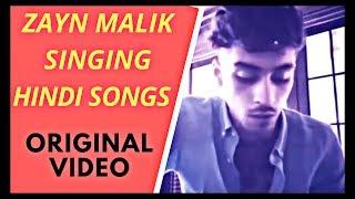 Zayn malik singing hindi songs full video in HD