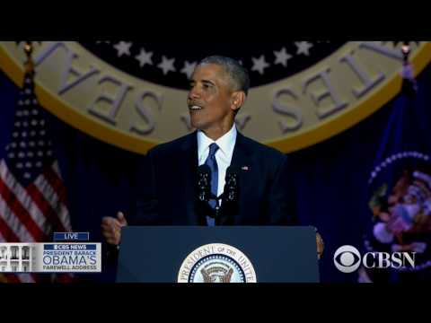 WATCH LIVE President Obama delivers his farewell address