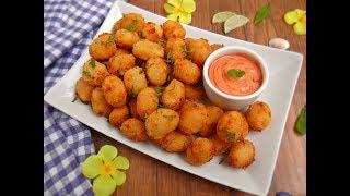 পটেটো নাগেটস(ফ্রোজেন পদ্ধতিসহ)    Spicy-Cheesy Potato Nuggets    Easy Party starter/ Kids lunch box