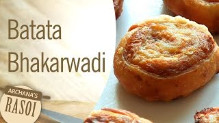 Batata Bhakarwadi (Potato Crispy Fried Roll) By Archana || Archana's Rasoi