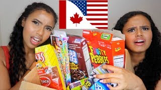 CANADIAN vs. AMERICAN SNACKS ft. KAY AND KOSH!