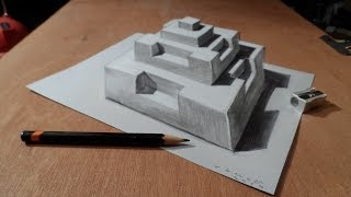 Drawing 3D Pyramid, Artistic Graphic