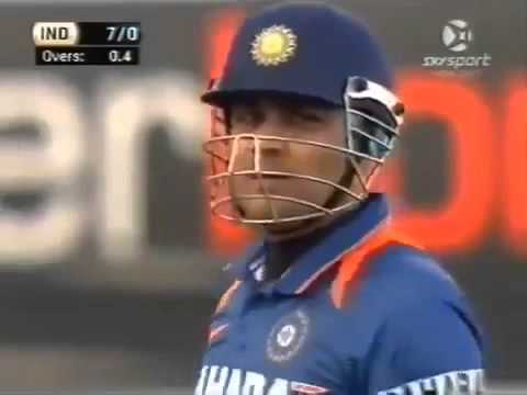 SEHWAG 3 SIXES in 3 BALLS in first over of Match