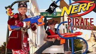 Playground Nerf War -  Pirate Edition