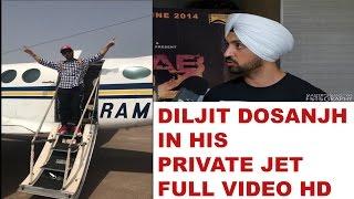 Diljit Dosanjh in his new private jet   Full video 2017