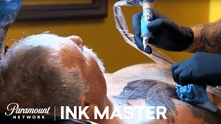 Elimination Tattoo: Hot Rods & Choppers (Neo Traditional) - Ink Master, Season 7