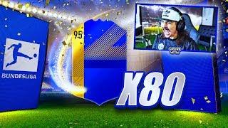 15 INSANE TOTS PACKED!! 80 UPGRADE PACKS!! FIFA 18